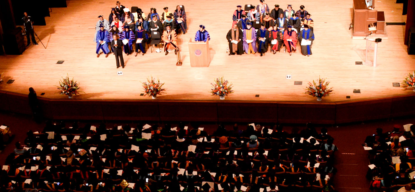 graduate school commencement ceremony